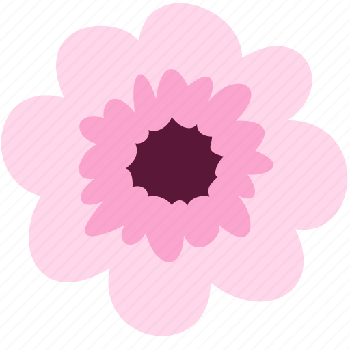 blossom, decoration, floral, flower, nature, pink icon