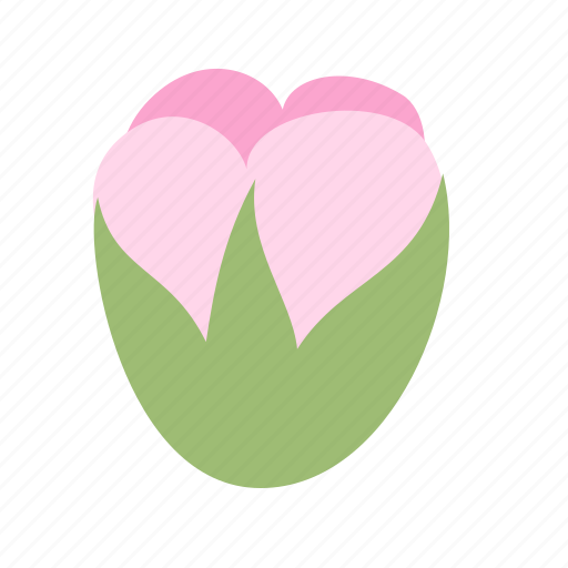 bud, floral, flower, nature, pink, plant icon