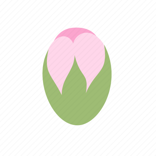 bud, floral, flower, nature, pink, plant, small icon