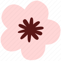 floral, flower, nature, plant, star icon