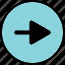 arrow, go, next, point, right icon