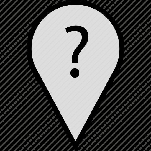 ask, google, locate, location, pin icon