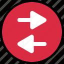 arrows, back, left, menu icon