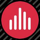 audio, bars, data, listen, music, stream icon
