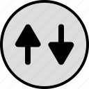 activity, arrows, down, up icon