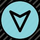 arrow, download, point, pointer icon