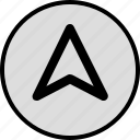 arrow, gps, point, up, upload icon