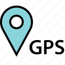 google, gps, locate, location, pin icon