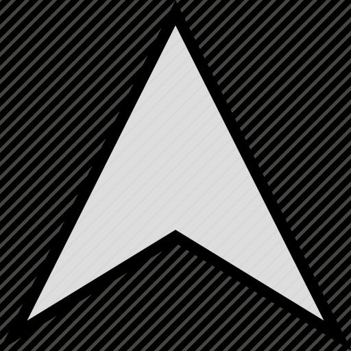 arrow, google, locate, location, up icon