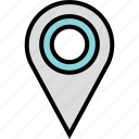 custom, google, locate, location icon