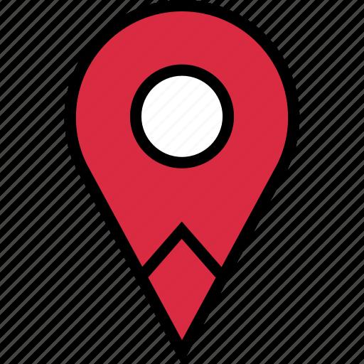 custom, google, locate, location, pin, pins icon