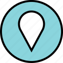 custom, google, locate, location, pin icon