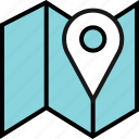 find, google, locate, location, map, search icon