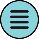 menu, options, setting, settings icon