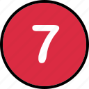 lucky, number, seven icon