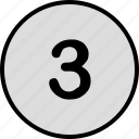 earn, number, three, top icon