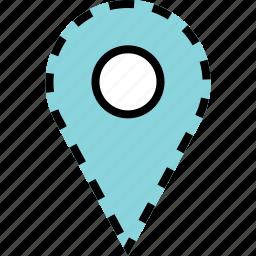 custom, google, locate, location, pin icon