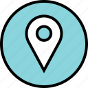 google, locate, location, pin icon