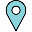 google, locate, location, pin, search icon