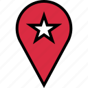 favorite, google, locate, location, star icon