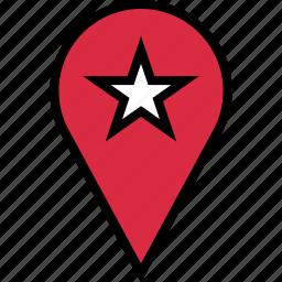 favorite, google, locate, location, star icon