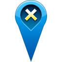 location, pin, remove icon