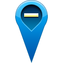 location, pin, remove