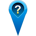 question, location, pin