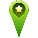 favorite, location, pin, star, start icon