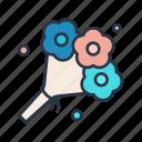 blossom, bouquet, rose, valentine, valentine's icon