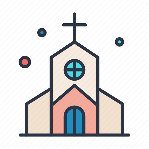 church, cross, dollar, religion, road, sign icon