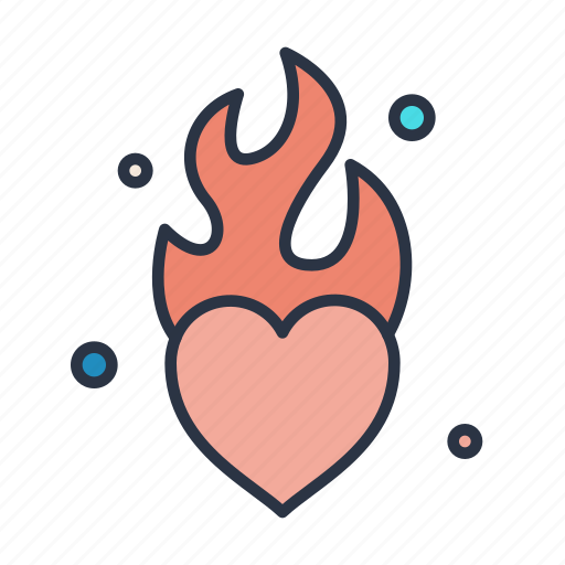 flaming, heart, marriage, medical, sign, wedding icon