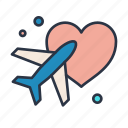 cloudy, honeymoon, rain, sun, vacation icon