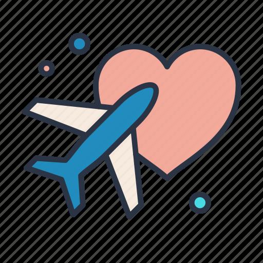 cloudy, honeymoon, rain, sun, vacation icon