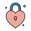 down, download, key, like, lock, locked, love icon