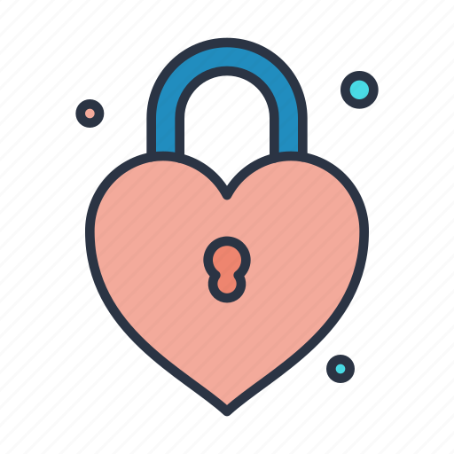 down, download, key, like, lock, locked, love icon