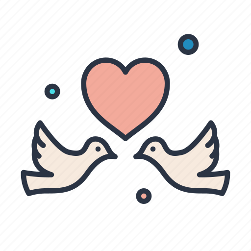 birds, letter, lifestyle, love, message icon
