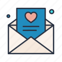 favorite, letter, like, love, romantic icon