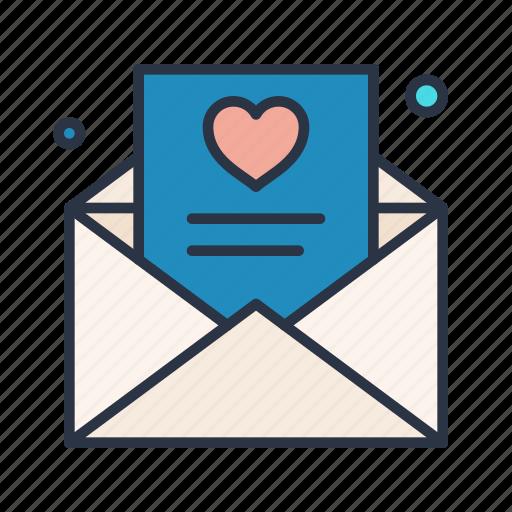 favorite, letter, like, love, romantic icon