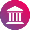 administration, building, governance, government, gradient, institution, polity icon