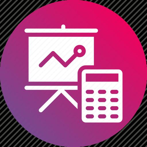 accountability, analysis, financial, increase, presentation, profit, report icon