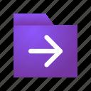 arrow, claim, delegate, file, folder, submit, transfer icon