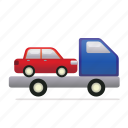 tow, towing, towtruck, transportation, truck icon