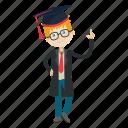 expert, graduation, nerd, school, student icon