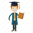 graduation, reader, school, student icon
