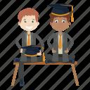 graduation, graduation ceremony, kids, student icon