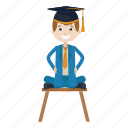 graduation, school, student, university icon