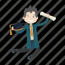 graduation, graduation ceremony, school, student icon
