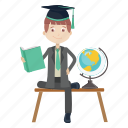 graduation, read, student, study icon