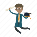 graduation, jumo, school, student icon
